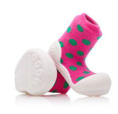Attipas dievčenské topánočky Polka Dot Pink