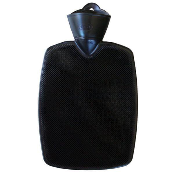 Hugo Frosch Termofor Classic s vysokým drážkováním - černý, zvýšená tepelná izolace