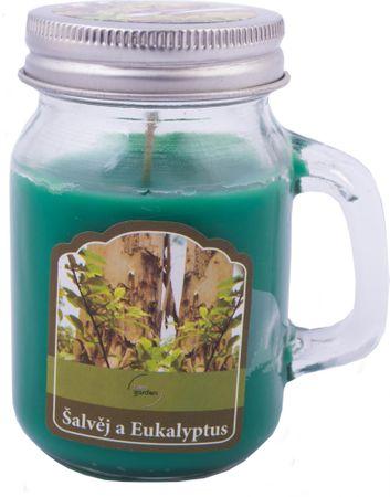 New Garden s.r.o. Svíce vonná v soudku šalvěj a eukalyptus 80 g