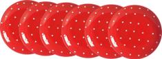 Ritzenhoff&Breker Pinto talíř 19 cm červená, 6 ks