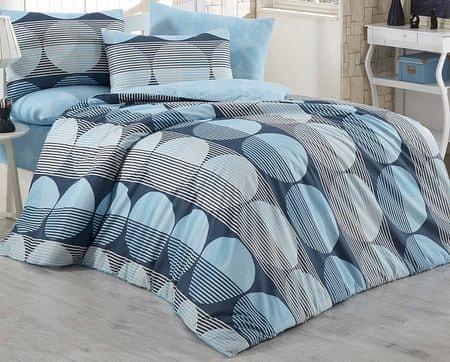 BedTex Obliečky Zara Modré 140x200/ 70x90 cm