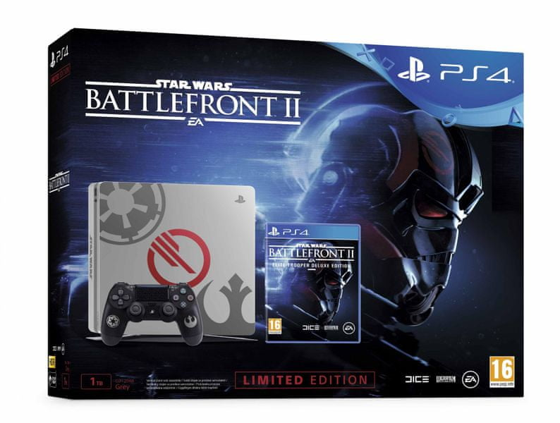 Sony PlayStation 4 Slim - 1TB + Star Wars Battlefront II Limited Edition