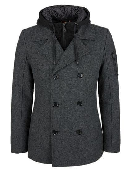 s.Oliver pánský kabát XXL šedá