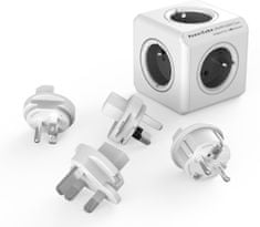 PowerCube ReWirable + Travel Plugs, Grey