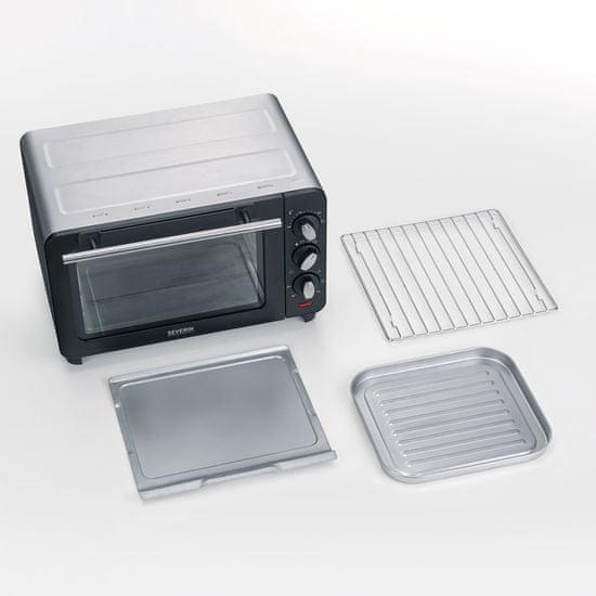 Severin mini pečica TO2064, 1200W, 14L - Odprta embalaža1