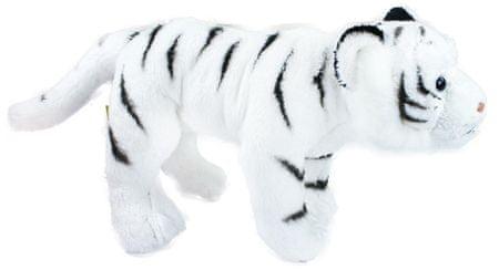 Rappa Tiger biely stojaci, 22 cm