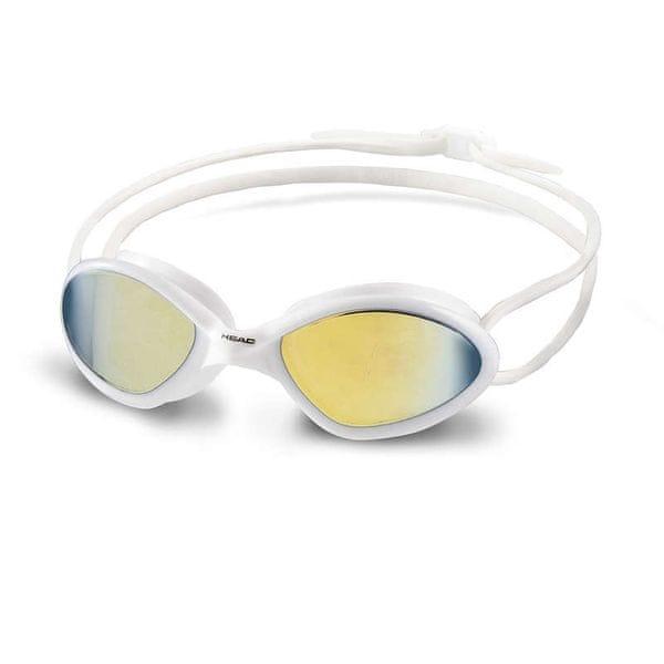 Head Brýle plavecké TIGER MID RACE zrcadlové, bílá