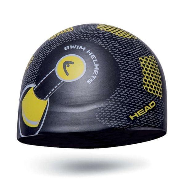 Head Čepice plavecká SILICONE SKETCH junior, černá/helma