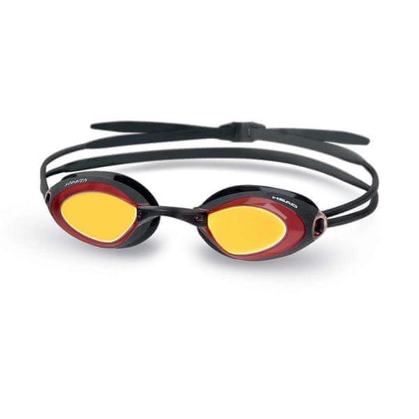 Head Brýle plavecké STEALTH zrcadlové, červená-černá
