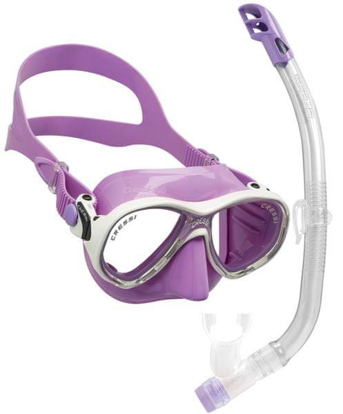 Cressi Set maska MAREA VIP + šnorchl JUNIOR, fialová