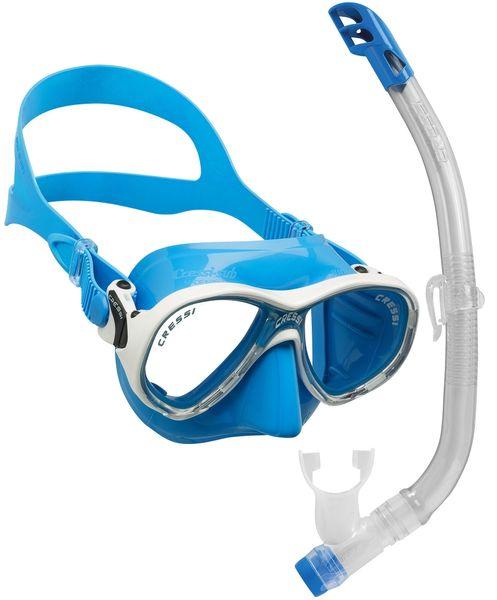 Cressi Set maska MAREA VIP + šnorchl JUNIOR, modrá