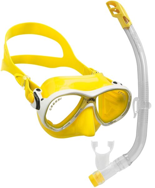 Cressi Set maska MAREA VIP + šnorchl JUNIOR, žlutá