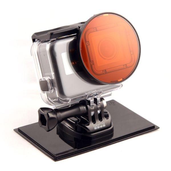 SNAKERIVERPROTOTYP Filtr červený pro GOPRO HERO 5 s adaptérem