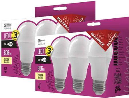 EMOS żarówki LED CLS A60 9W E27 WW 6KS