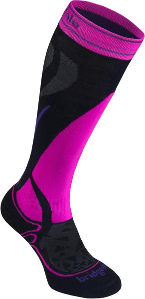 Bridgedale Vertige Mid Women's black/fluo pink S (35-37)