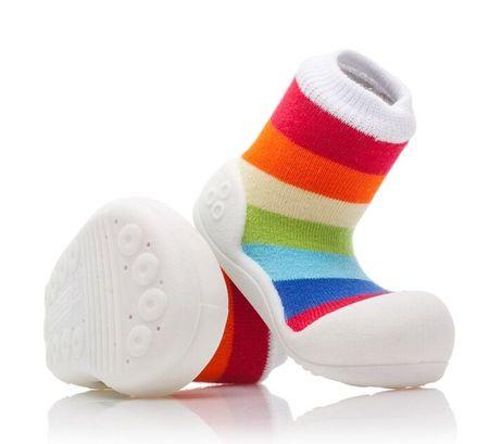 Attipas dětské botičky Rainbow White 22,5 vícebarevná