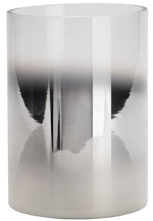 Wittkemper świecznik szklany 17 cm, srebrny