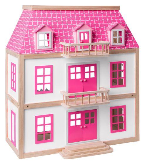 Woody lesena hišica za lutke Vila Wisteria