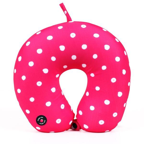Albi Masážní záhlavník 30x10 cm růžový s puntíky