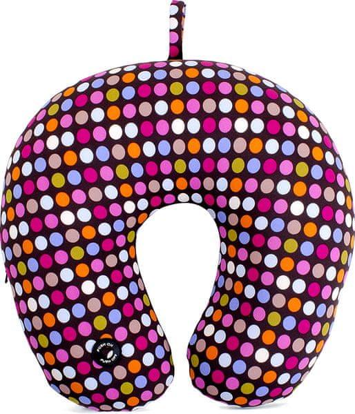Albi Masážní záhlavník 30x10 cm barevné puntíky