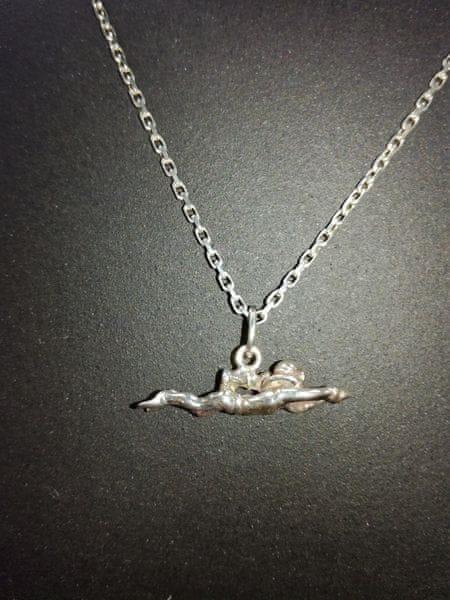 Přívěsek potápěč stříbrný - malý