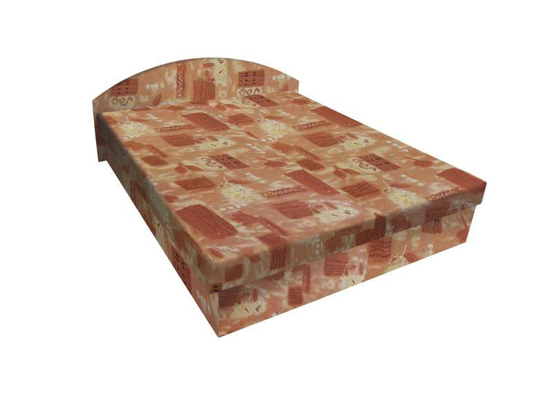 Čalouněná postel ÁJA 180x200 cm, hnědá látka