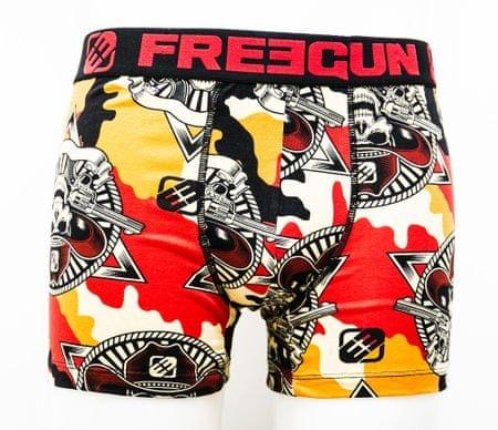 Freegun moške boksarice FGC4/1/BC/DES, oranžne, S
