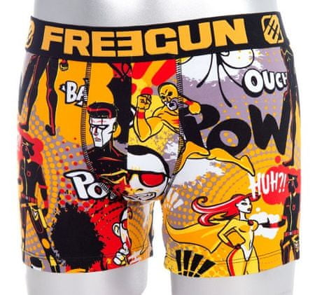 Freegun moške boksarice FGC4/1/BC/HER, črne, XL