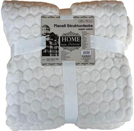 Home Deka z mikrovlákna s vytlačeným vzorom biela