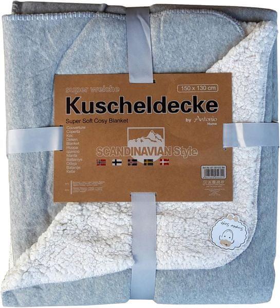 Home Deka Premium oboustranná 130x150 cm světle šedá