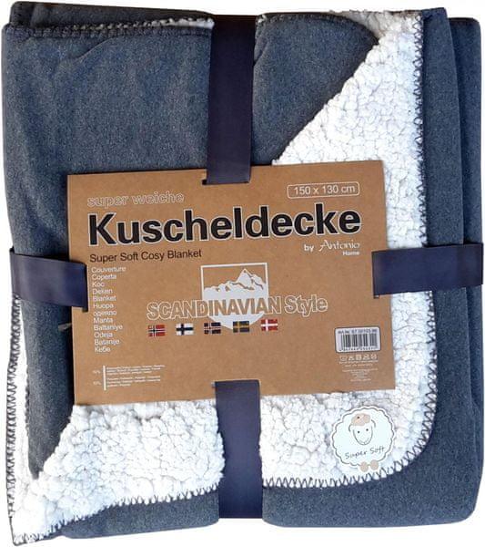 Home Deka Premium oboustranná 130x150 cm šedá