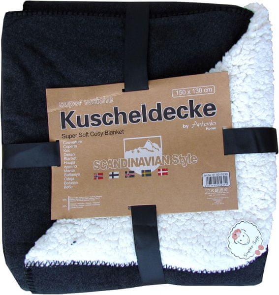 Home Deka Premium oboustranná 130x150 cm tmavě šedá