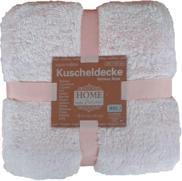 Home Super měkká plyšová deka 150x200 cm růžová