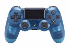 SONY kontroler PS4 DualShock 4 V2, przezroczysty niebieski