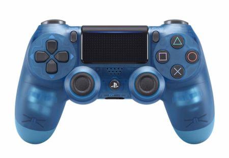Sony igralni plošček PS4 DualShock 4 V2, prozoren/moder