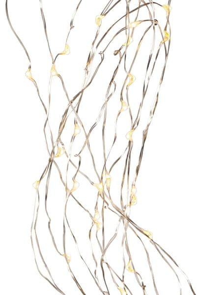 Wittkemper Řetěz Stripe 40 LED 380 cm, stříbrný