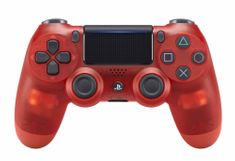 SONY kontroler PS4 DualShock 4 V2, przezroczysty czerwony