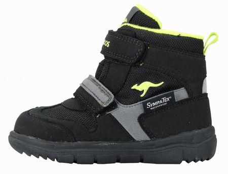 KangaROOS dětská zimní kotníčková obuv Winni 26 černá