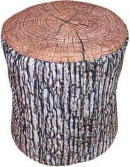 Home Taburet dřevo světlý 45x45x45 cm