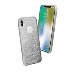 SBS ovitek za iPhone X, srebrn z bleščicami