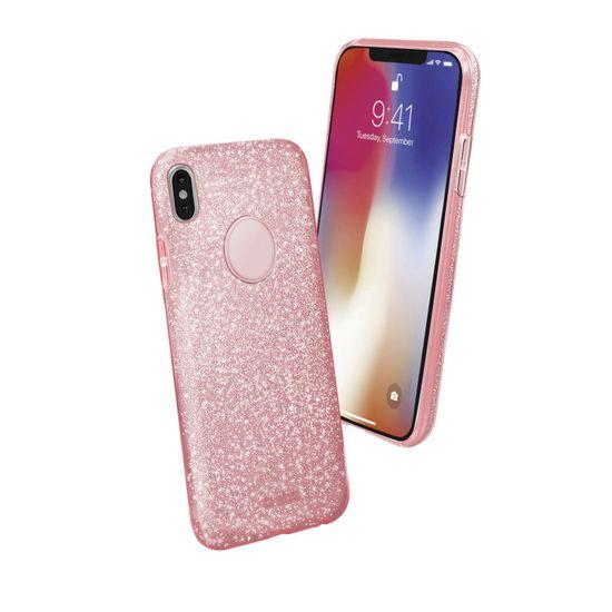 SBS ovitek za iPhone X, roza z bleščicami