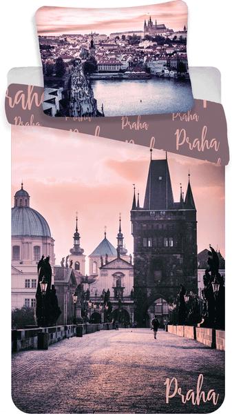 Jerry Fabrics bavlna povlečení Praha Romantique 140x200 70x90
