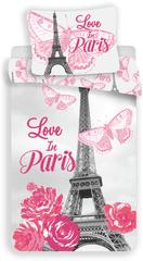 Jerry Fabrics posteljina s printom Pariza i cvijeća, 140x200 70x90