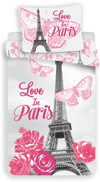Jerry Fabrics Povlečení fototisk Paris flowers 140x200 70x90