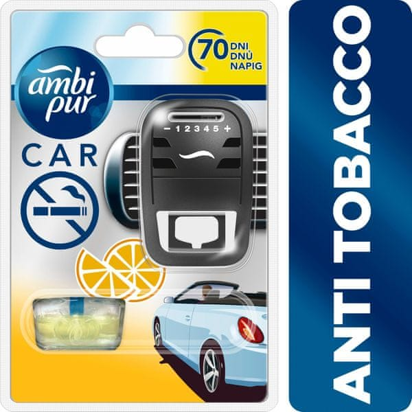 Ambi Pur Car strojek + náplň Anti Tobacco 7 ml