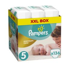 Pampers Pleny Premium Care 5 (Junior) - 11-18 kg, 136 ks