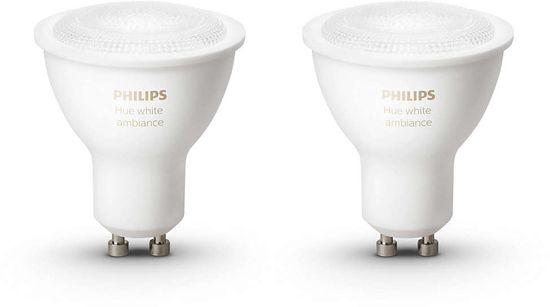 Philips sijalka Hue Ambiance White, GU10, 2 kosa