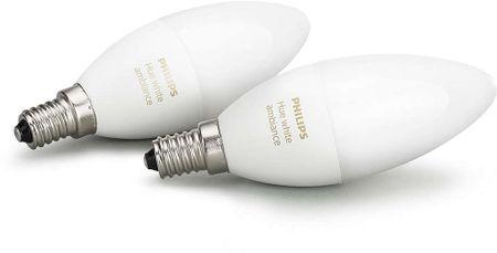 Philips Hue Ambiance žárovky 6W B39 E14 EU 2Pack