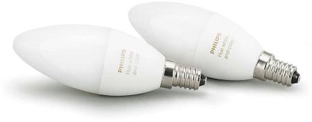 Philips żarówka Hue White and Color 6W B39 E14, 2 szt.