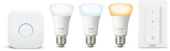 Philips Hue žiarovka white 9.5W A60 E27 3 set EU